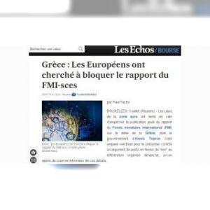 Dette grecque : les Européens ont tenté de bloquer un rapport du FMI