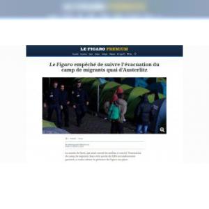Migrants / Paris : polémique entre la mairie et Le Figaro